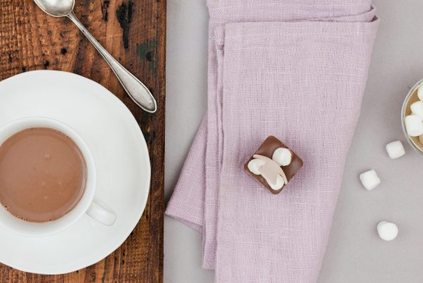 Milchkuvertüre Mini-Marshmallow Trinkschokoladenlöffel