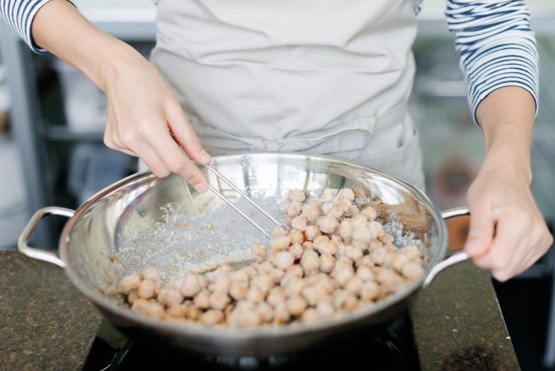 Glasierte Haselnüsse karamellisiert Praliné