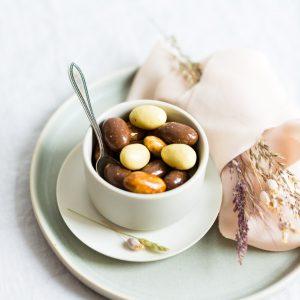Dragierte Mandeln Mascarpone, Tiramisu, Cafe Laté