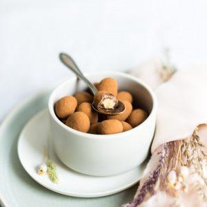 Sahne Kakao Mandeln dragiert