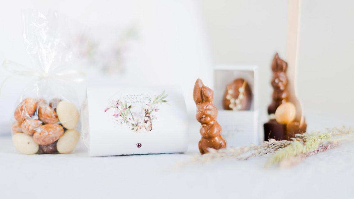 Schokoladenbox Ostern Pralinen und Schokoladen mit persönlichem Gruß