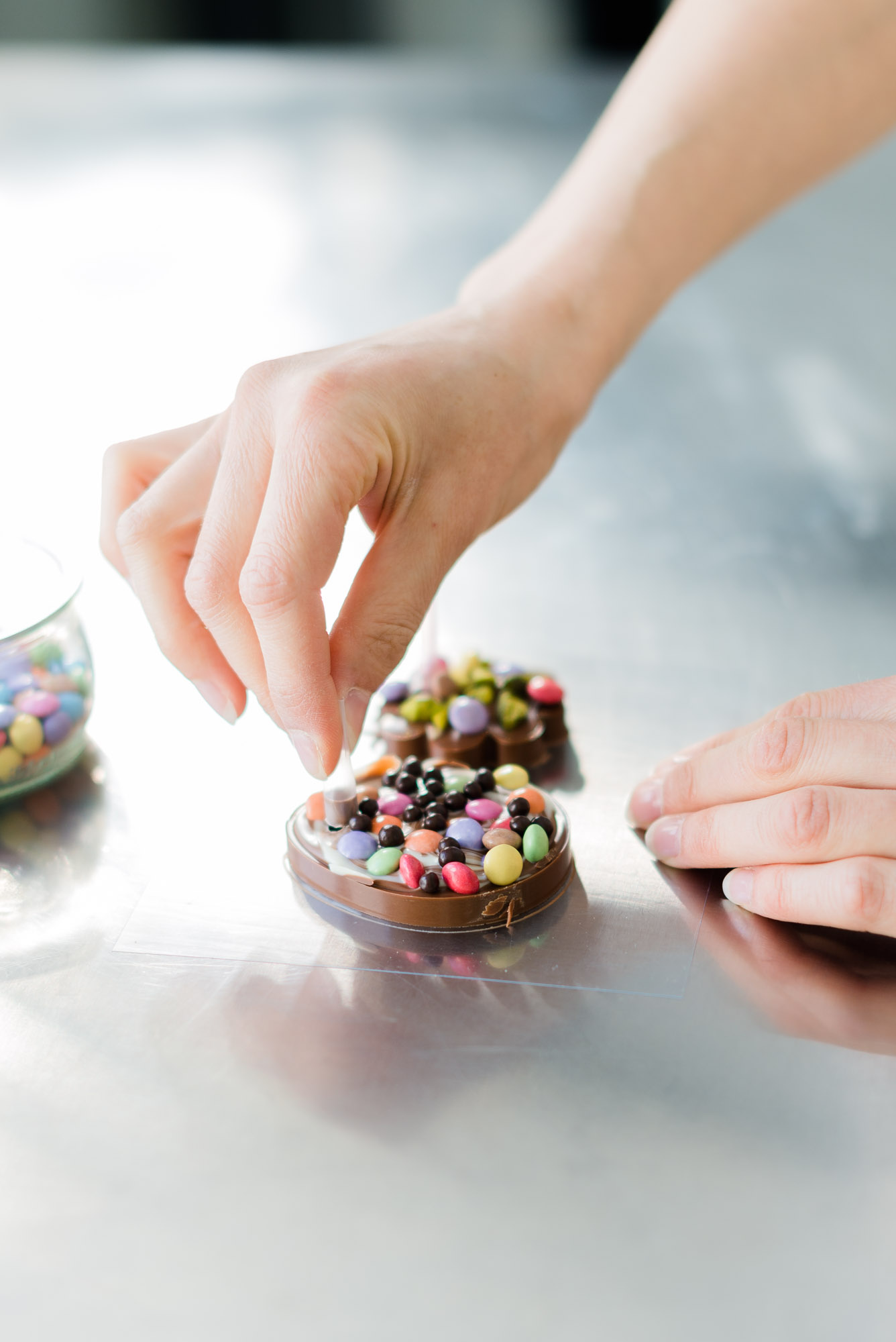 DIY Anhänger Ostern Schokolade Anleitung und Freebie