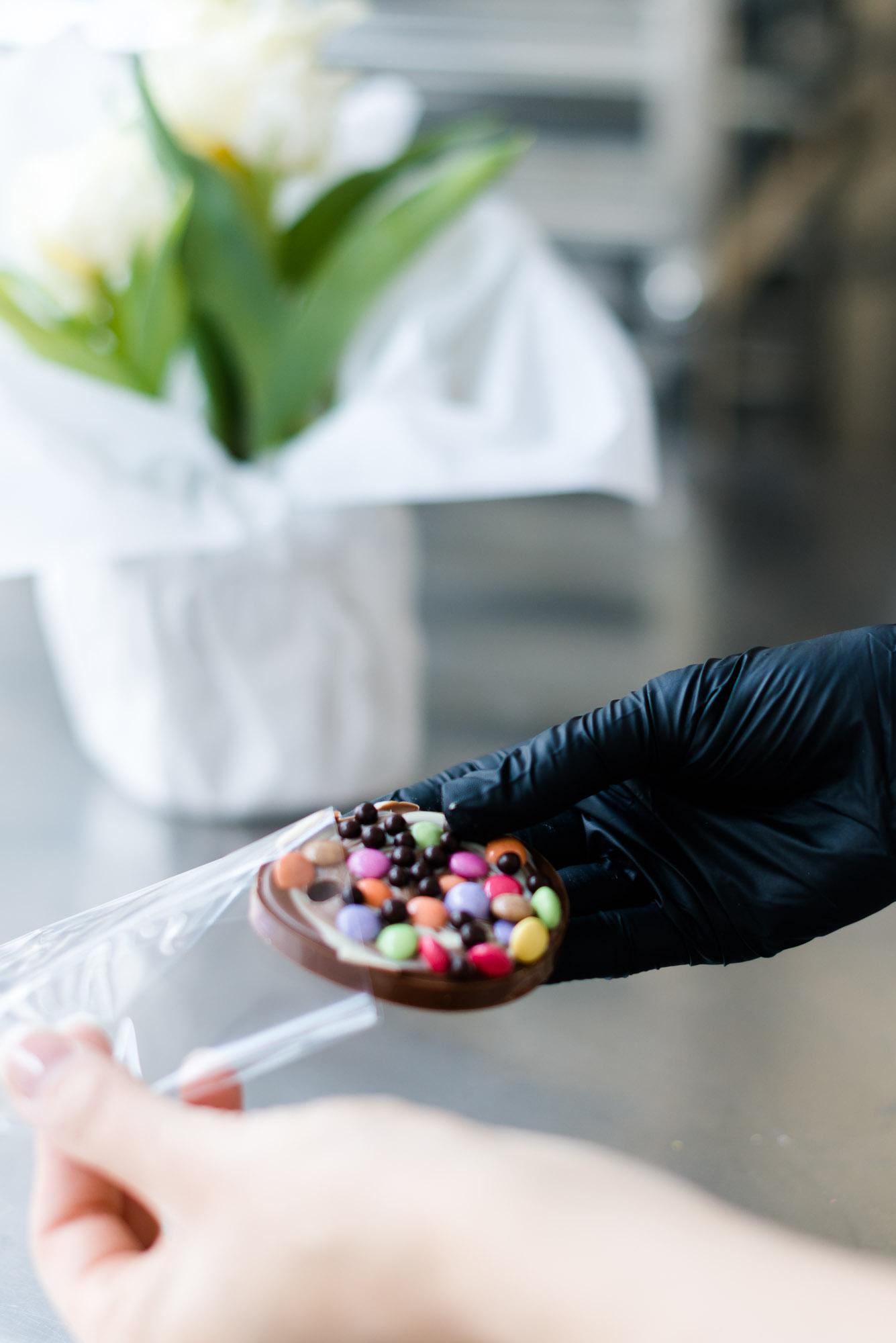 Geschenk Anhänger Ostern Schokolade